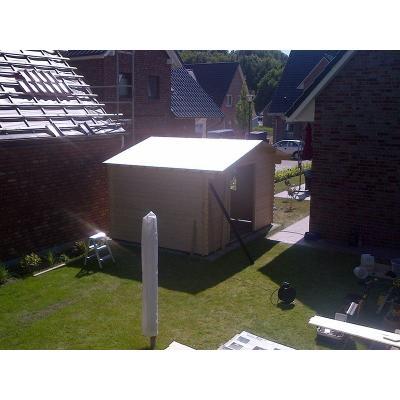Holzhaus fast fertig